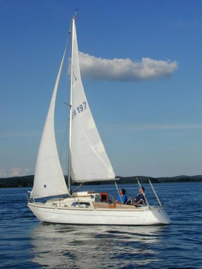 Segelboot bei Privatstunden