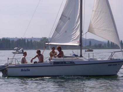 Ein Segel-Schnuppertag in Iznang am Bodensee